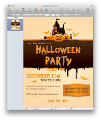 halloween party invitation for pages mactemplates com