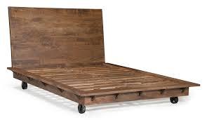 Walnut Bed Frames Oaktown Platform Bed In Distressed Walnut Lovely Furnishings