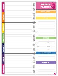ideal weekly planner template word agenda templates wskbp zrtvtgmx