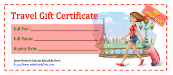 travel gift certificate template sample gift certificate template