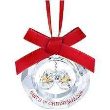 Swarovski Crystal Christmas Decorations Uk by Swarovski Crystal Baby S First Christmas Ornament Annual Edition 2016