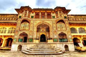 Situated at a distance of   km from Jaipur  Amber Fort is the next famous hill fort after Nahargarh Fort  The highlight of the fort is      Sheesh Mahal