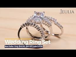 Jeulia Wedding Rings by Jeulia Com Wedding Rings Sets Show Youtube