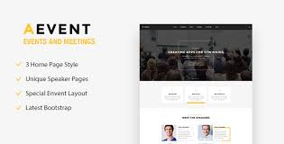 aevent conference u0026 event html template by template path