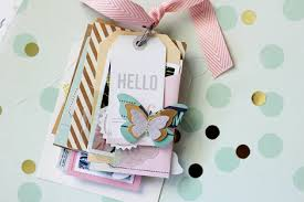 Making Photo Albums Minimally Made Notes U0026 Things Tag Mini Album Crate Paper