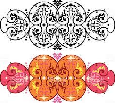 victorian oriental scroll design stock vector art 165040409 istock