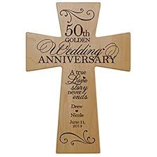 50 year anniversary gift golden anniversary cross 50th wedding anniversary