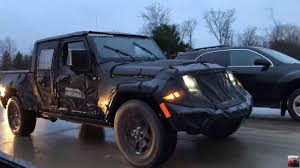 is the jeep pickup truck 2019 jeep scrambler pickup spied on the move