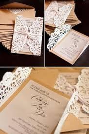 handmade invitations diy lace doily wrapped invites handmade diy vintage wedding shower