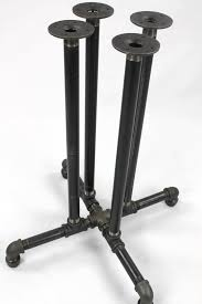 pipe table legs kit black pipe table frame table legs diy parts kit black pipe