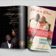 magazine wedding programs magazine wedding program printers in lagos print business