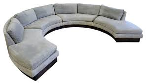 round sectional sofa sofa glamorous round sectional sofa bed curved leather tufted