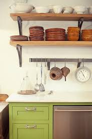 open wall shelving for kitchens