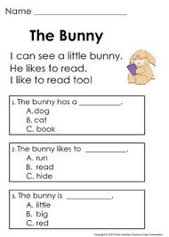 kindergarten comprehension worksheets pdf kindergarten reading
