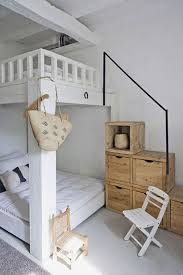 Over The Bed Bookshelf Cottage Guest Bedroom With Built In Bookshelf U0026 Hardwood Floors