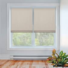 Flat Roman Shades - flat roman shade linenpolyester fabric blackout backing thermal