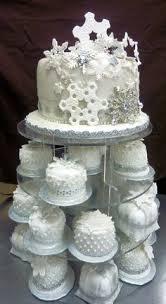 mini winter wedding cake cakes or cupcakes pinterest