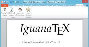 design von powerpoint in word iguanatex a free latex add in for powerpoint on windows