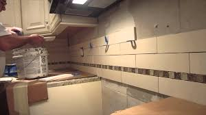 interior limestone sonoma tile kitchen backsplash time lapse