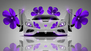 koenigsegg purple koenigsegg agera fantasy flowers car 2014 el tony