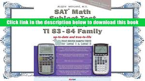 popular book sat math subject test with ti 83 84 family with 10