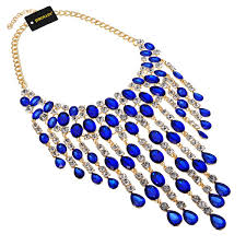 blue fashion necklace images Crystal necklaces jpg