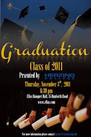 graduation poster graphic design