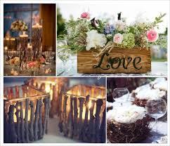 dã coration table mariage mariage rustique chêtre centre de table vase et branchage