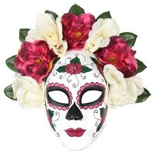 day of the dead masks day of the dead floral half mask perth hurly burly