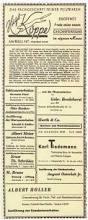 Haus Anzeige File Anzeige Pelzgeschäft Hugo Köppe Bremen Jetzt Im Eigenen