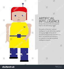 color of intelligence artificial intelligence robot color icon illustration stock vector