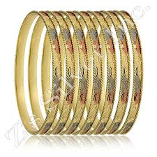 bangle bracelet sets images Set of 12 5mm dsgveni 3tone bangle bracelets jpg