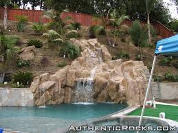fake rock wall pool artificial rock waterfalls landscapes