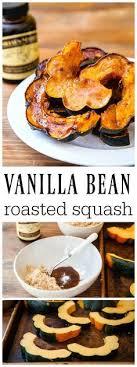 a small thanksgiving vanilla bean roasted acorn squash