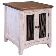 Rustic End Tables International Furniture Direct Pueblo Ifd360end W Rustic End Table