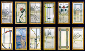 Kitchen Cabinet Doors Glass Salvaged Stained Glass Kitchen Cabinet Built In Home New
