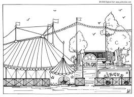 Big Top Coloring Pages Hellokids Com Circus Coloring Page