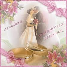 felicitations pour un mariage mariage