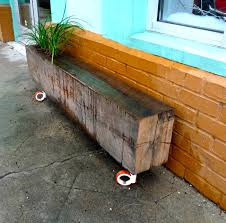 Plant Bench Plans - bench railroad tie bench railroad tie planter outside rooms