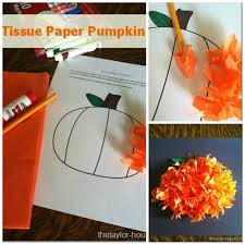 fall craft tissue paper pumpkin the taylor house