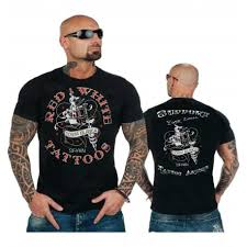 hells n white support81 black t shirt front