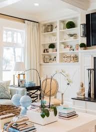 Living Room Built In Living Classic Family Home With Coastal Interiors Home Bunch Interior