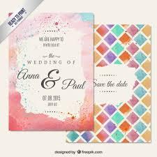 wedding invitations freepik painted wedding invitation in abstract style vector free