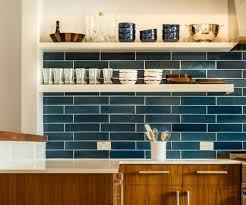 blue tile kitchen backsplash amazing blue tile backsplash with rack wall design 8518