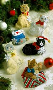 kitties bucilla felt ornament kit 86065 fth studio