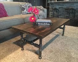 Industrial Rustic Coffee Table Industrial Table Etsy
