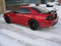 2000 Black Mustang Gt Laser Red In The Snow The Mustang Source Ford Mustang Forums