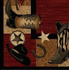 Cowboy Area Rugs Buy Red Western Boots 5 X 8 Area Rug Texas Rugs Store