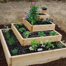 diy stacked herb garden raised vegetable gardens vegetable