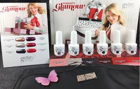 gelish soak off gel polish wrapped in glamour collection with